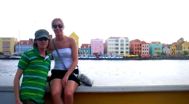 The colourful buildings along Aruba's waterfront
