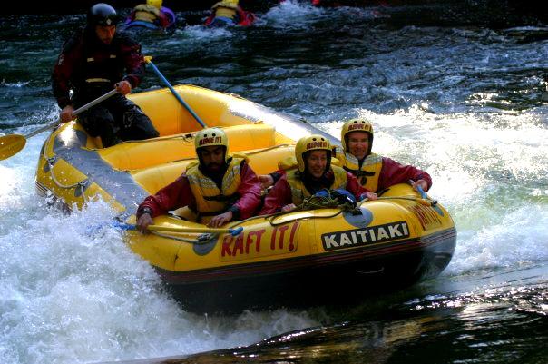 White water rafting in Rotorua, New Zealand
