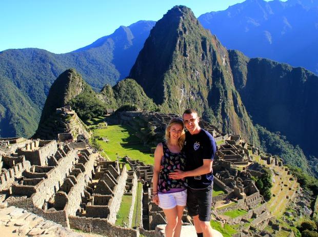 Standing at Macchu Picchu, Peru, after hiking the Inca Trail