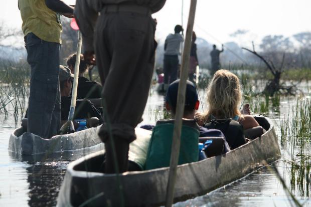 Cruising through the Okavango Delta, Botswana