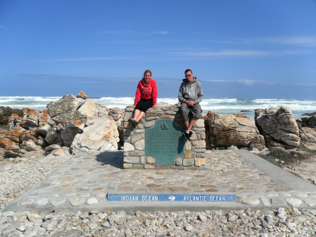 Sitting at the most southern tip of South Africa - Cape Agulhas