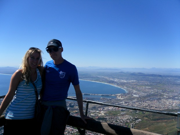 At the top of Table Mountain, Cape Town