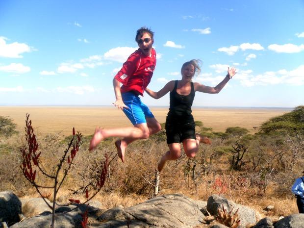 Jumping high over the Serengeti, Tanzania