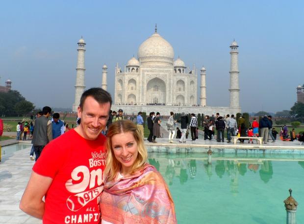 The stunning Taj Mahal in India