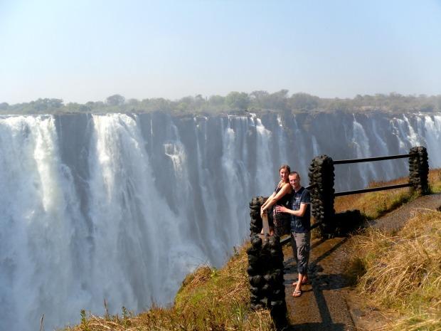 At the magnificent Victoria Falls, Zambia