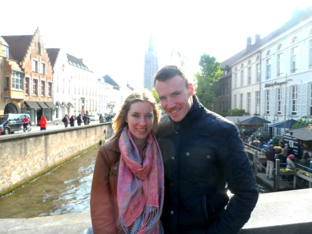 Walking along the canals in Bruges, Belgium