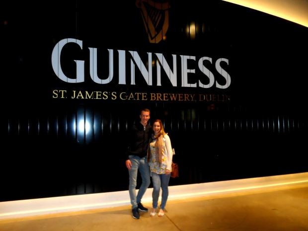 Trying Guinness in Dublin