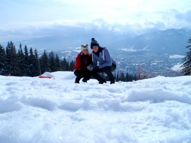 Hiking in the snowy mountains of Zakopane, Poland