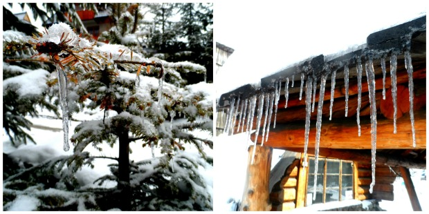 Some of the icicles were almost 2 storeys high!