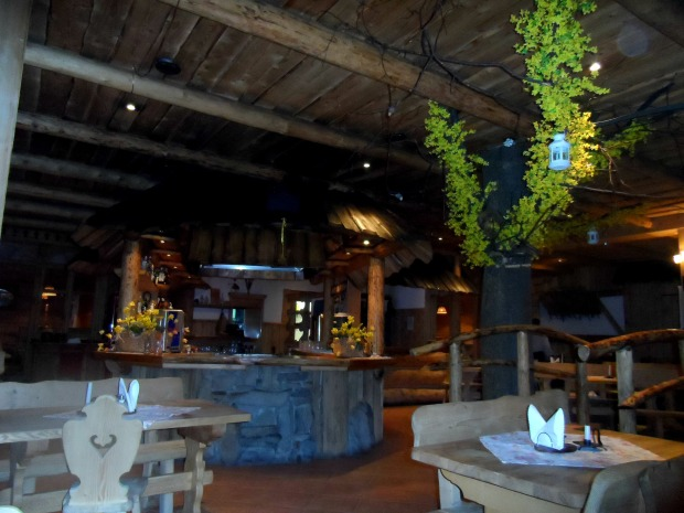 Our favourite restaurant in Zakopane that looked like a little wooden cabin in the mountains