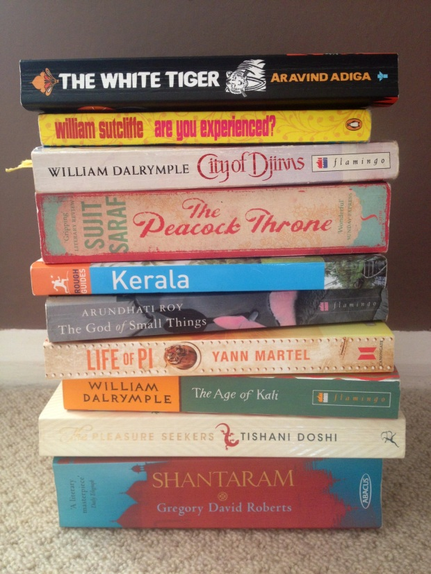 My big stack of India books