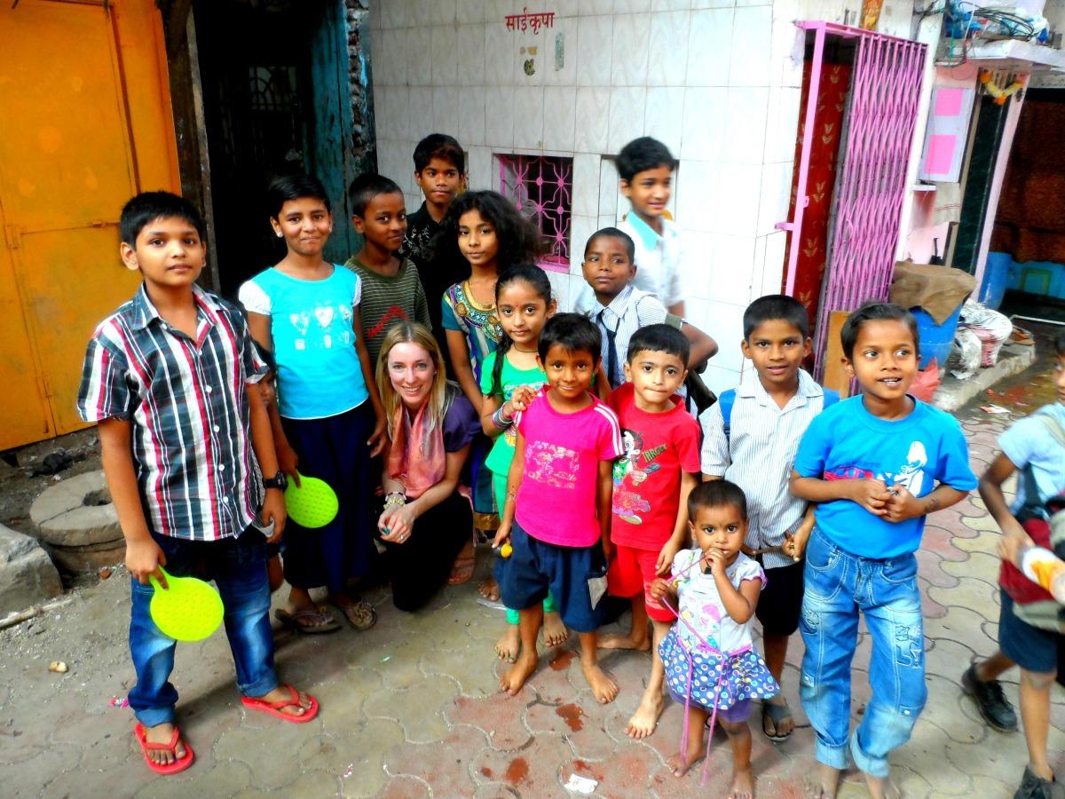 Slums in Mumbai India
