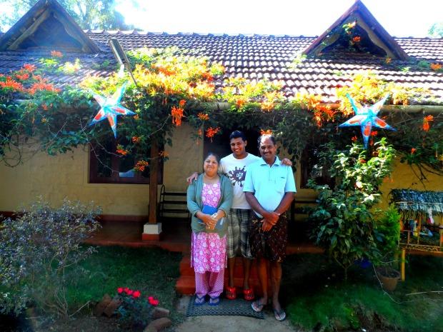 The lovely family at Rose Gardens