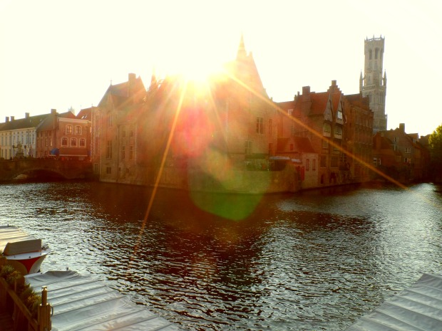 Bruges looking pretty at dusk