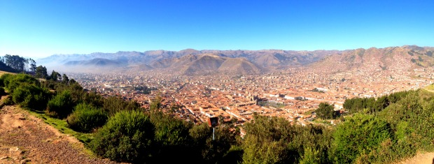 Overlooking the mountain city of Cusco