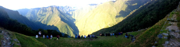 Overlooking a valley on the Inca Trail