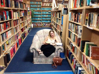 Chilling in the giant book store