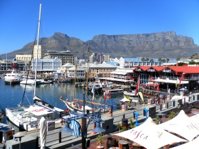 Overlooking Table Mountain at the V&A Waterfront