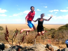 Jumping high over the Serengeti, Tanzania