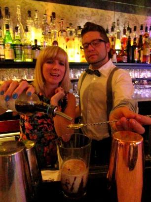 Cocktail making at Hush