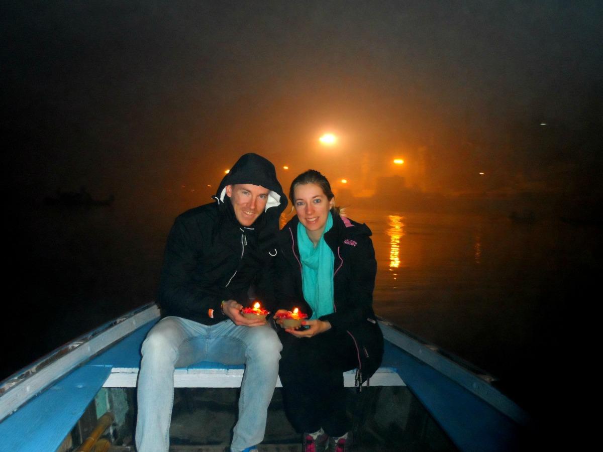 Sunrise boat ride on River Ganges India