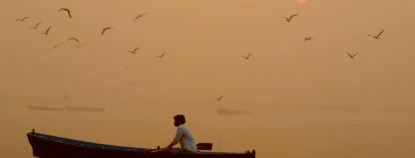 Sunrise at River Ganes Varanasi India