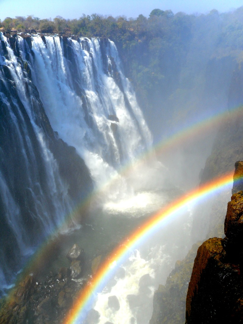 Rainbow at Victoria Falls Zambia