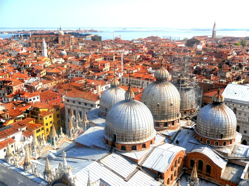 The rooftops of Venice Italy