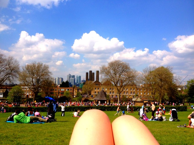 Chilling in the sunshine in Greenwich Park
