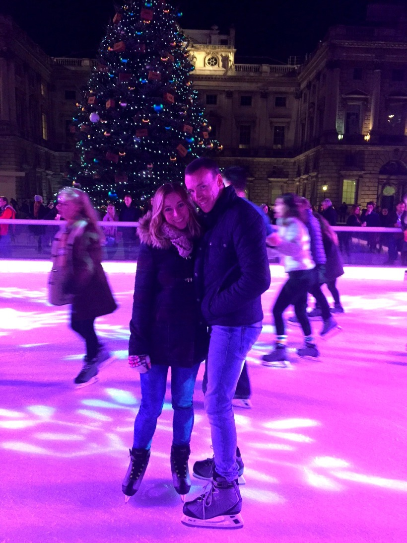 Ice skating at Somerset House London