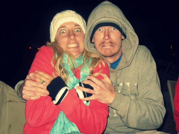 Freezing our butts off in the Ngorongoro Crater, Tanzania