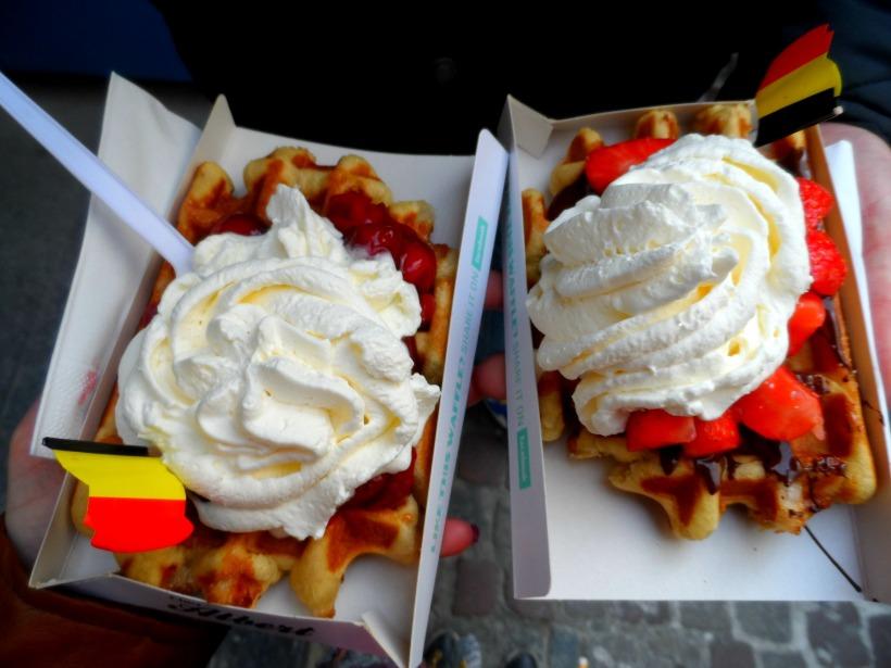 Waffles in Bruges Belgium