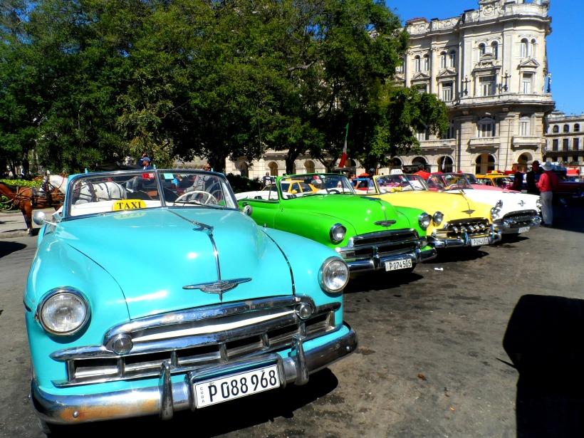 Vintage cars Parque Central Havana Cuba