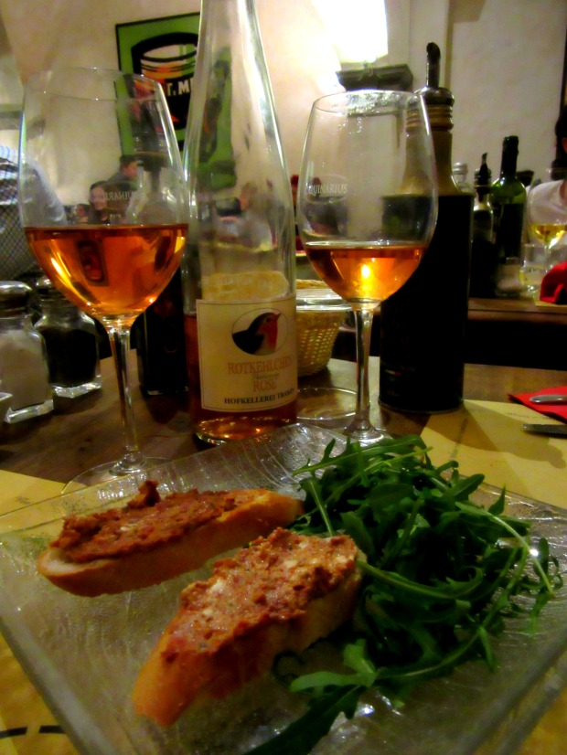 Food and wine at Coquinarius in Florence Italy
