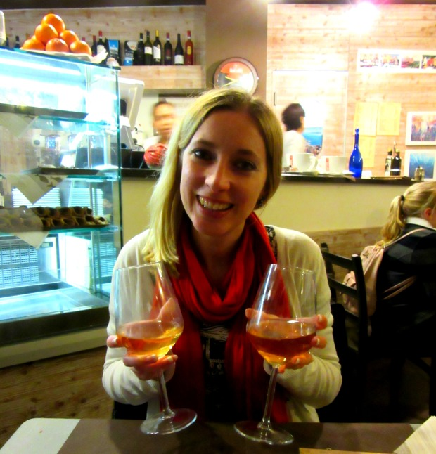 Wine at Il Pirata Cafe Cinque Terre Italy