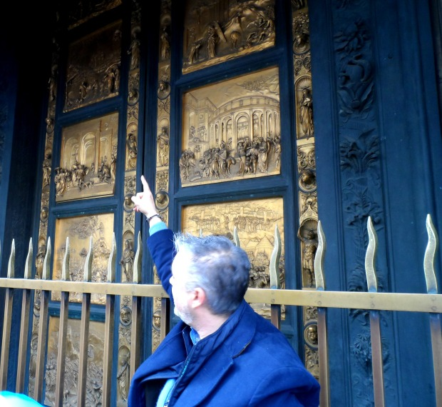 Baptistry doors in Florence