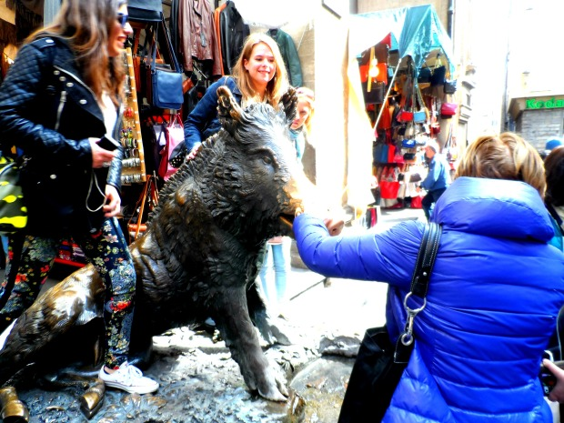 Porcellino pig in Florence