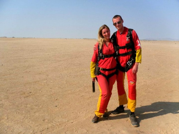 Skydiving in Namibia