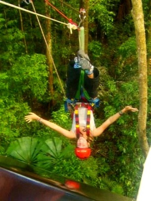 Zip lining in Cape Tribulation
