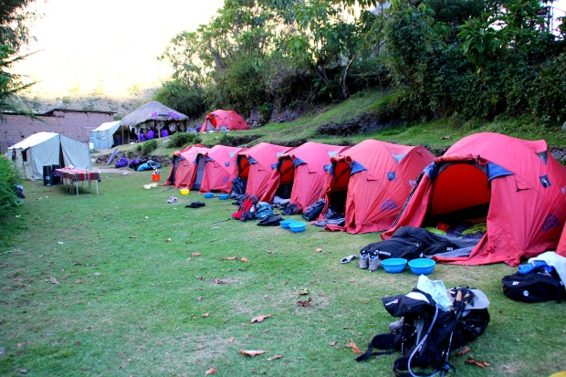 Camping on the Inca Trail