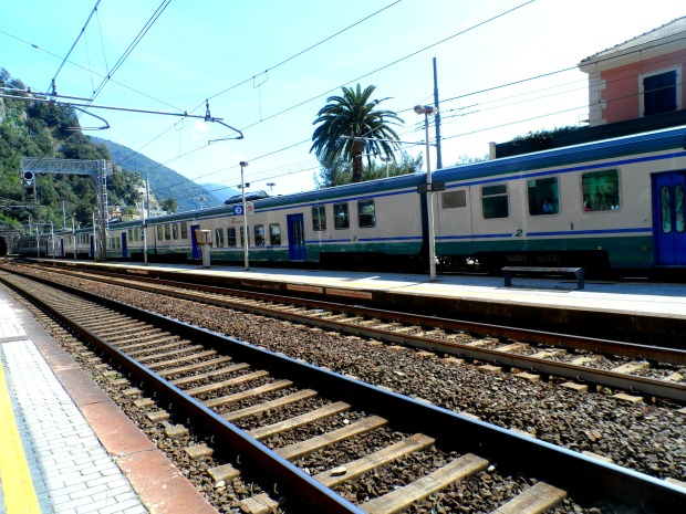 Trains in the Cinque Terre