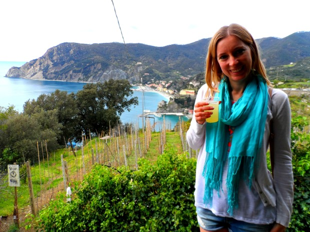 Fresh lemonade hiking the Cinque Terre