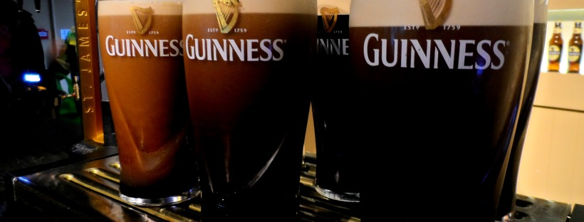 Trying Guinness in Dublin