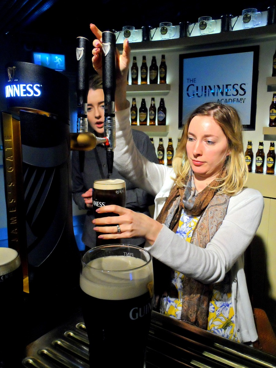 Learning to pour Guinness