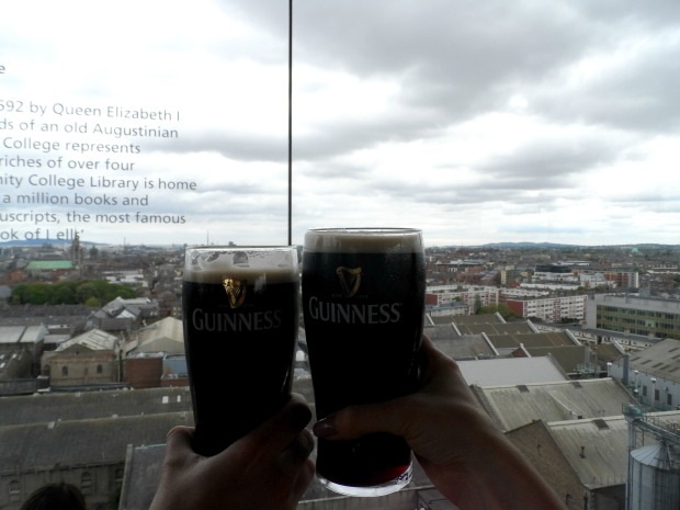 Drinking Guinness in the Gravity Bar