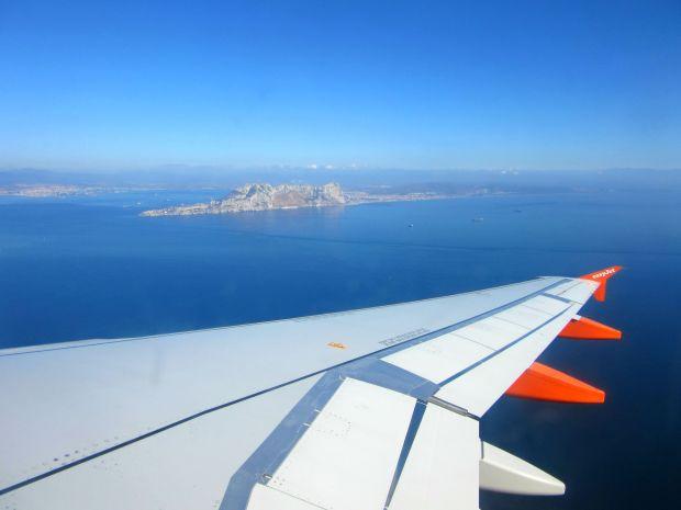 Flying over Gibraltar Rock