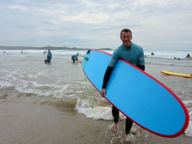Surfing Watergate Bay