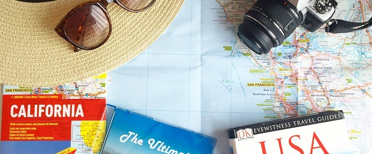 Travel blogger planning a trip