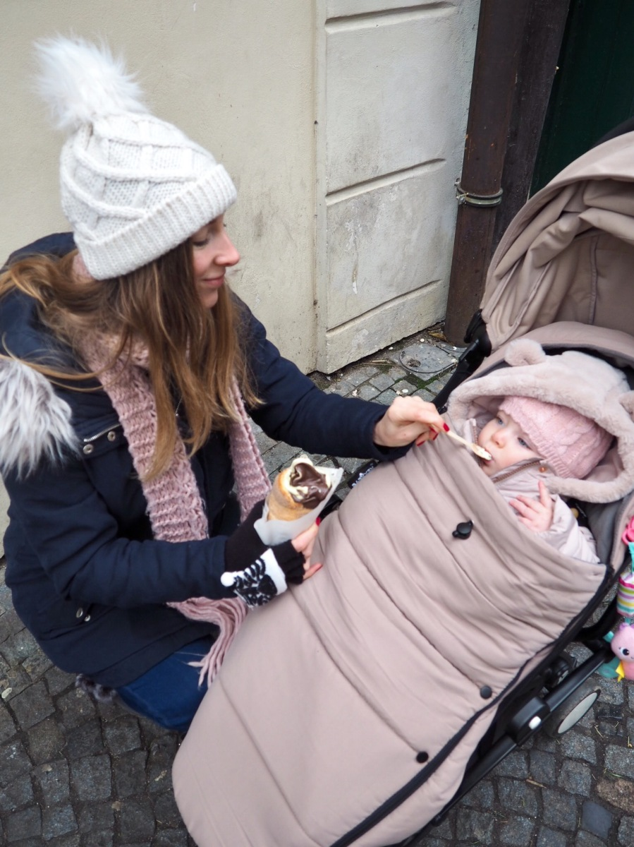 Prague Christmas markets with a baby